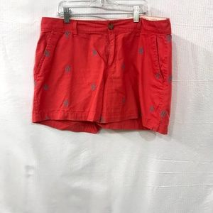 Old Navy Red Anchor  Flat Front Shorts  Size: 12